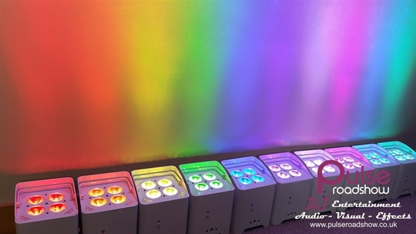 Battery LED Uplighting Vast amount of colours can be made!