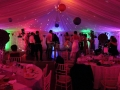 LED Uplighting during the disco colour changing