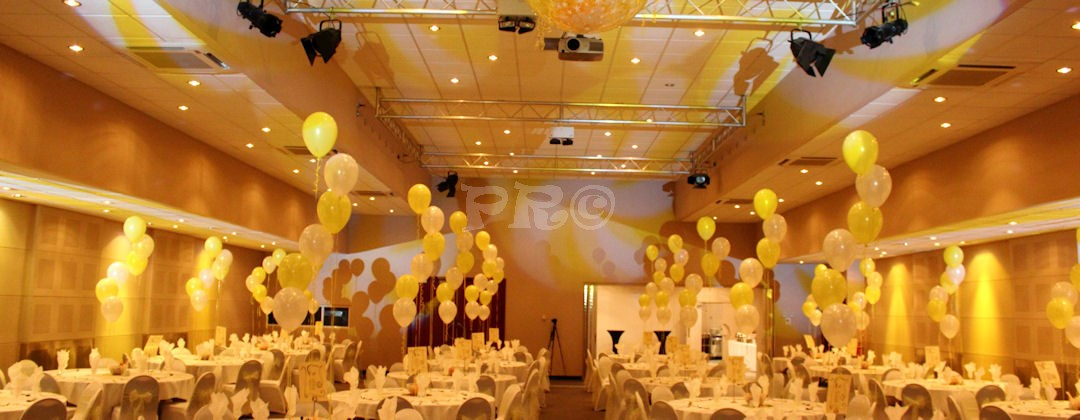Prom event held at Haynes Motor Museum Somerset. Bespoke disco complimenting the decor